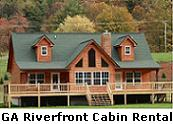 North Georgia Mountains Riverfront Cabin For Rent